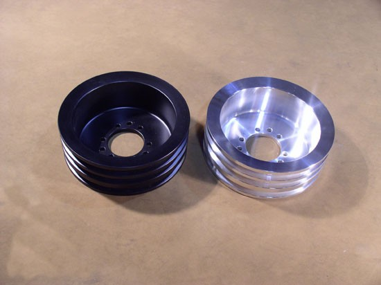 PEC-3-B and PEC-3-C Billet 3-groove Crank Pulley for all 1964-67 Pontiac V-8s