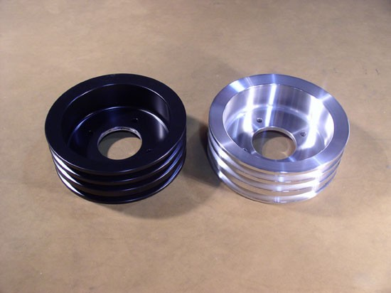 PLC-33-B and PLC-33-C Billet 3-groove Crank Pulley for 1971-81 Pontiacs