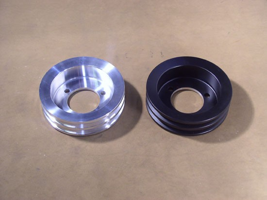 "PUC-4A-B and PUC-4A-C Underdriven Crank Pulley for 3-Bolt Balancer - Double Groove - 6.25"" Dia."