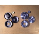 PSPS-65-67B-A, PSPS-65-67C-A Billet Pulley Set - All 1965-67 V8s with Power Steering & A/C