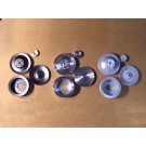 PSPS-65-67B, PSPS-65-67C Billet Pulley Set - All 1965-67 V8s with Power Steering, no a/c