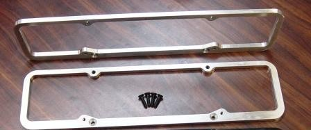 VCA-40  SBC Valve Cover Adapters (to run staggered pattern covers)