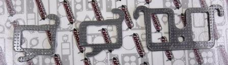 7057S BUICK V8 HEADER / MANIFOLD STEEL-CLAD GASKETS
