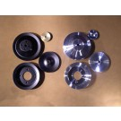 "PSPS-69E-B, PSPS-69E-C Billet Pulley Set - Early '69 with 4"" Pump, P/S & no A/C"