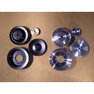 PSPS-75-81B-A, PSPS-75-81C-A Billet Pulley Set - All 1975-81 V8s with P/S & A/C